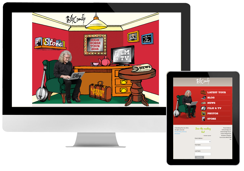 Billy Connolly ecommerce website design and development
