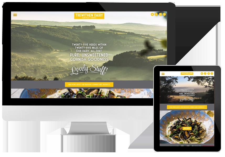 Trewithen Dairy responsive website design